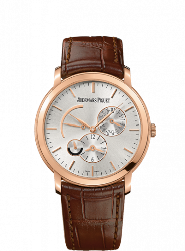 Jules Audemars 26380 Dual Time Pink Gold / Silver