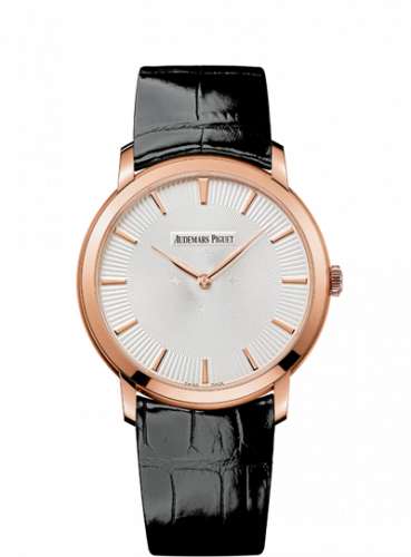 Jules Audemars 15180 Extra-Thin Pink Gold / Silver Guilloche