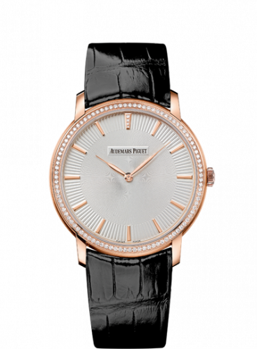 Jules Audemars 15182 Extra-Thin Pink Gold / Silver