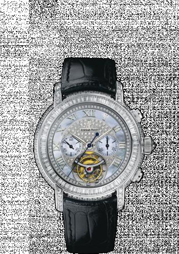 Jules Audemars 26083 Tourbillon Chronograph White Gold / MOP