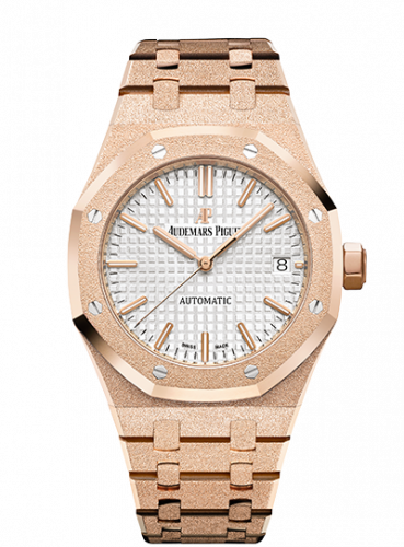 Royal Oak 15454 Selfwinding Frosted Pink Gold / Silver