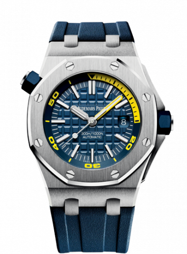 Royal Oak Offshore Diver Stainless Steel / Blue