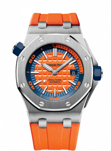 Royal Oak Offshore Diver Stainless Steel / Orange