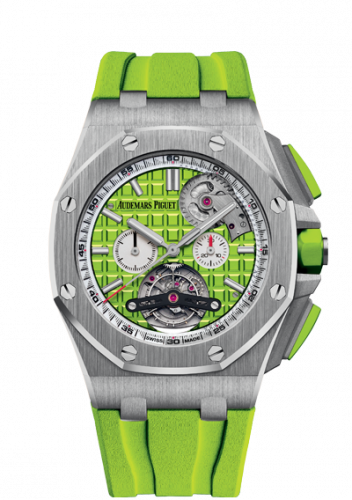 Royal Oak Offshore Tourbillon Chronograph Selfwinding Stainless Steel / Green