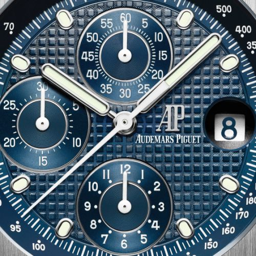 Royal Oak Offshore 26237 Stainless Steel / Blue / Bracelet / 25th Anniversary