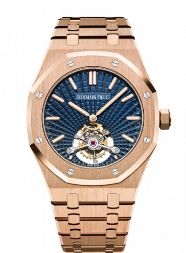 Royal Oak Ultra Thin Tourbillon Pink Gold / Blue Evolutive