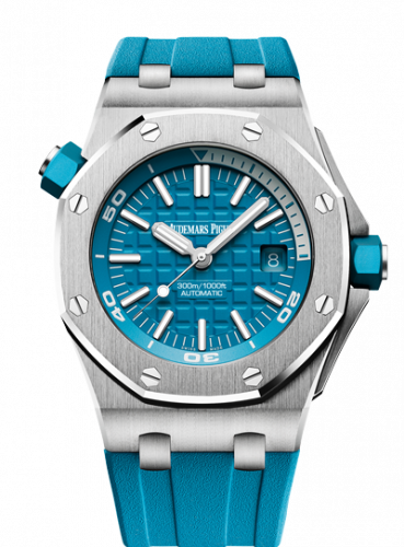 Royal Oak Offshore Diver Stainless Steel / Turquoise