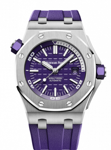 Royal Oak Offshore Diver Stainless Steel / Purple