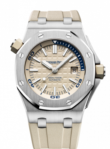 Royal Oak Offshore Diver Stainless Steel / Beige