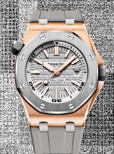 Royal Oak Offshore Diver Pink Gold / Titanium / Silver