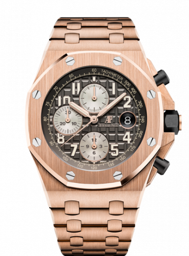 Royal Oak Offshore 42 Pink Gold / Grey / Bracelet