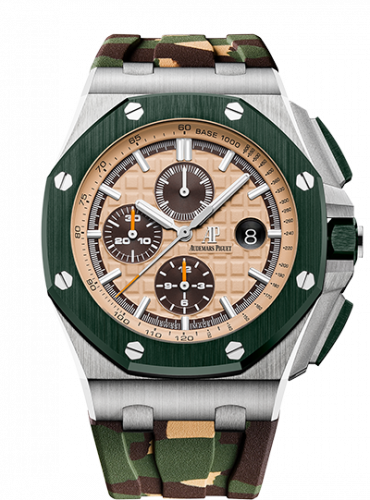 Royal Oak Offshore 42 Stainless Steel / Ceramic / Beige / Rubber