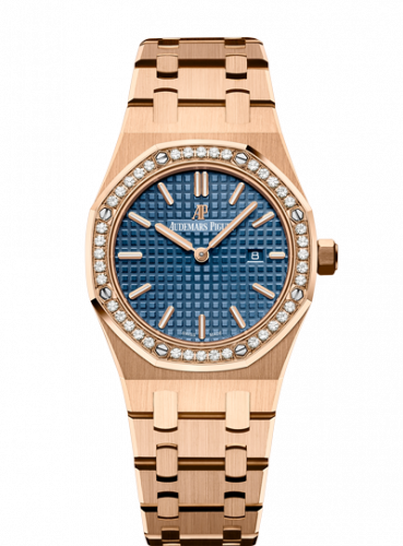 Royal Oak 67651 Quartz Pink Gold / Blue / Bracelet