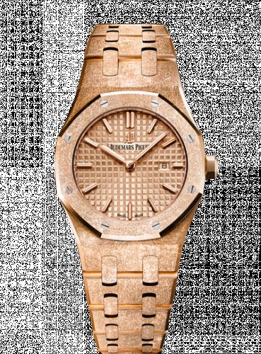 Royal Oak 67653 Quartz Frosted Pink Gold / Pink / Bracelet