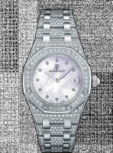 Royal Oak 67602 Quartz White Gold / Diamond / MOP / Bracelet