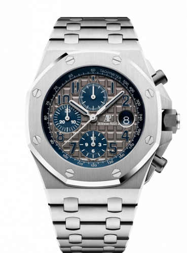 Royal Oak OffShore 42 Chronograph Titanium / Grey / Bracelet / QE II Cup