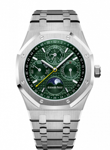Royal Oak Perpetual Calendar 41 Stainless Steel / Green / Unique Timepieces