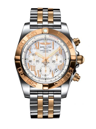 Chronomat 44 Stainless Steel / Rose Gold / Pearl Roman / Bracelet