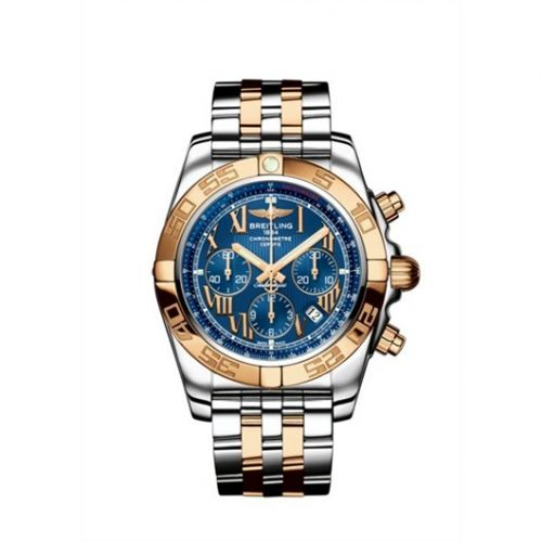 Chronomat 44 Stainless Steel / Rose Gold / Riviera Blue / Bracelet