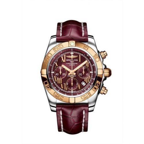 Chronomat 44 Stainless Steel / Rose Gold / Mirage Red Roman / Croco