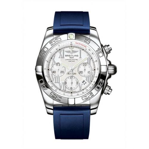 Chronomat 44 Stainless Steel / Antarctica White / Rubber