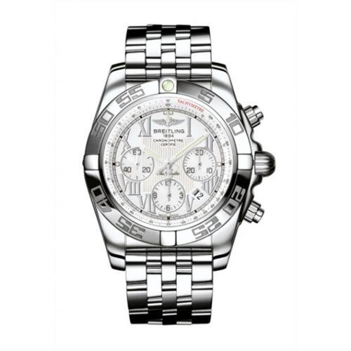 Chronomat 44 Stainless Steel / Antarctica White / Bracelet