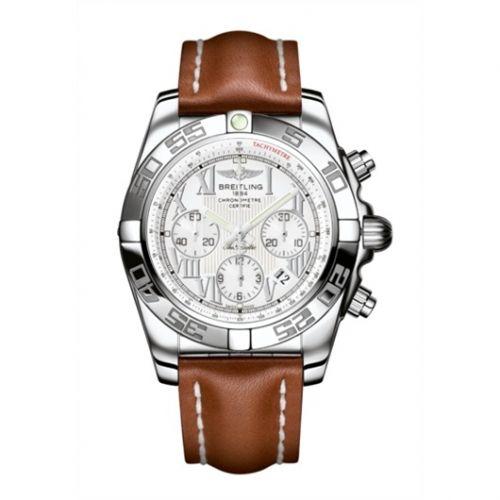Chronomat 44 Stainless Steel / Antarctica White / Calf