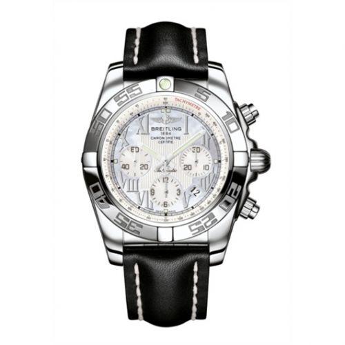Chronomat 44 Stainless Steel / Pearl Roman / Calf