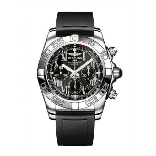 Chronomat 44 Stainless Steel / Onyx Black Roman / Rubber
