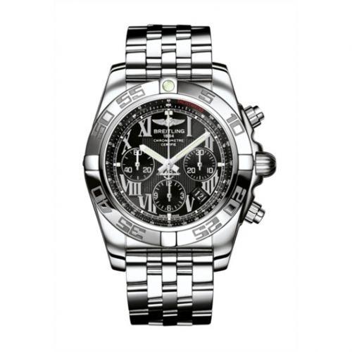 Chronomat 44 Stainless Steel / Onyx Black Roman / Bracelet