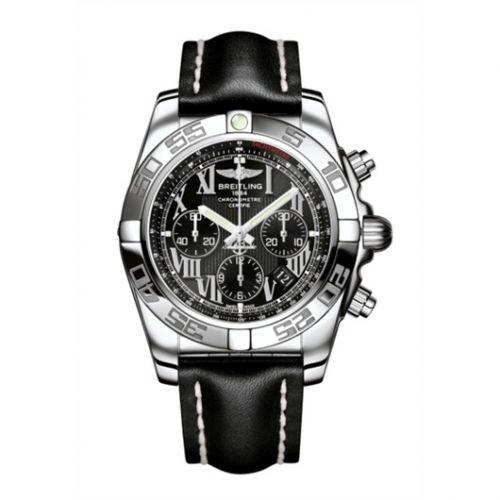Chronomat 44 Stainless Steel / Onyx Black Roman / Calf