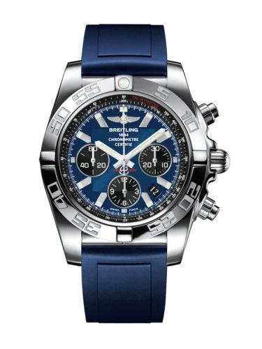 Chronomat 44 Stainless Steel / Blackeye Blue / Rubber