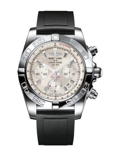 Chronomat 44 Stainless Steel / Silver / Rubber