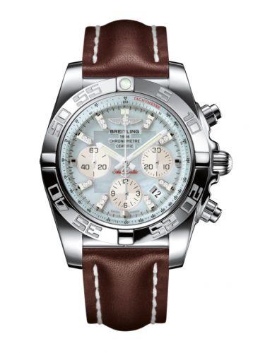 Chronomat 44 Stainless Steel / Gray Pearl Diamond / Calf
