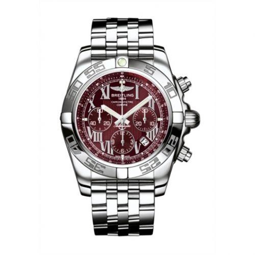 Chronomat 44 Stainless Steel / Mirage Red / Bracelet