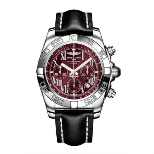 Chronomat 44 Stainless Steel / Mirage Red / Calf