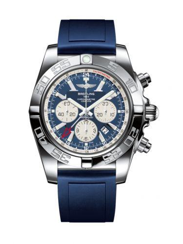 Chronomat 47 GMT Stainless Steel / Metallica Blue / Rubber