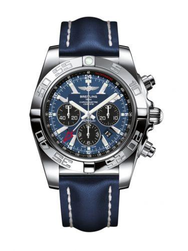 Chronomat 47 GMT Stainless Steel / Blackeye Blue / Calf