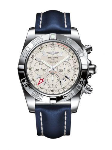 Chronomat 47 GMT Stainless Steel / Sierra Silver / Calf
