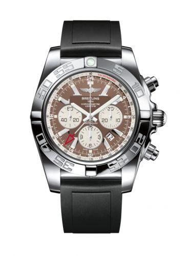 Chronomat 47 GMT Stainless Steel / Metallica Brown / Rubber