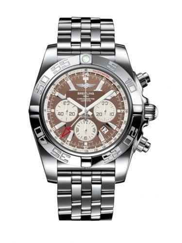 Chronomat 47 GMT Stainless Steel / Metallica Brown /  Bracelet