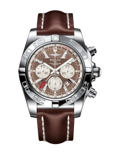 Chronomat 47 GMT Stainless Steel / Metallica Brown /  Calf