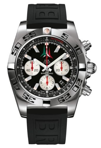 Chronomat 44 Stainless Steel / Frecce Tricolori / Rubber
