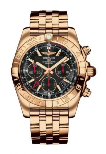 Chronomat 44 GMT Rose Gold / Black / Bracelet