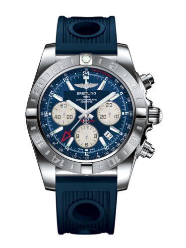 Chronomat 44 GMT Stainless Steel / Metallica Blue / Rubber