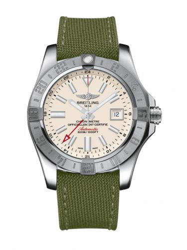 Avenger II GMT Stainless Steel / Stratus Silver / Military