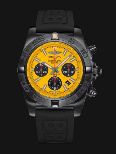 Chronomat 44 Blacksteel / Yellow / Rubber