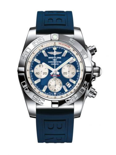 Chronomat 44 Stainless Steel / Blue / Rubber