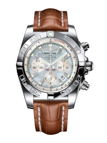 Chronomat 44 Stainless Steel / Gray Pearl / Croco