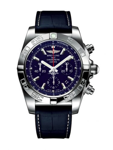 Chronomat 44 Stainless Steel / Blue MOP / Croco Rubber